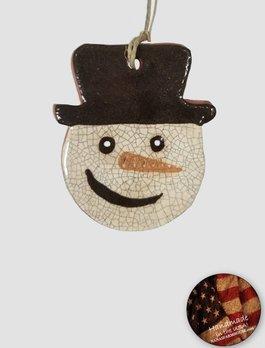 Smith Redware Smith Redware - Frosty Snowman Head Ornament