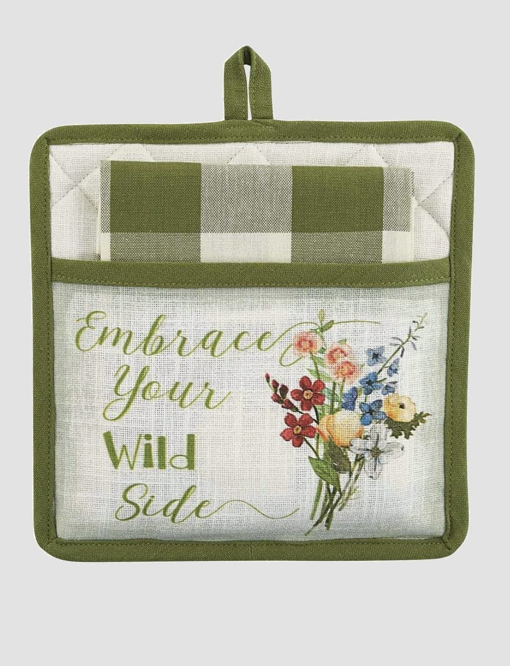 Park Designs Wildflower Sketchbook Pocket Potholder Set