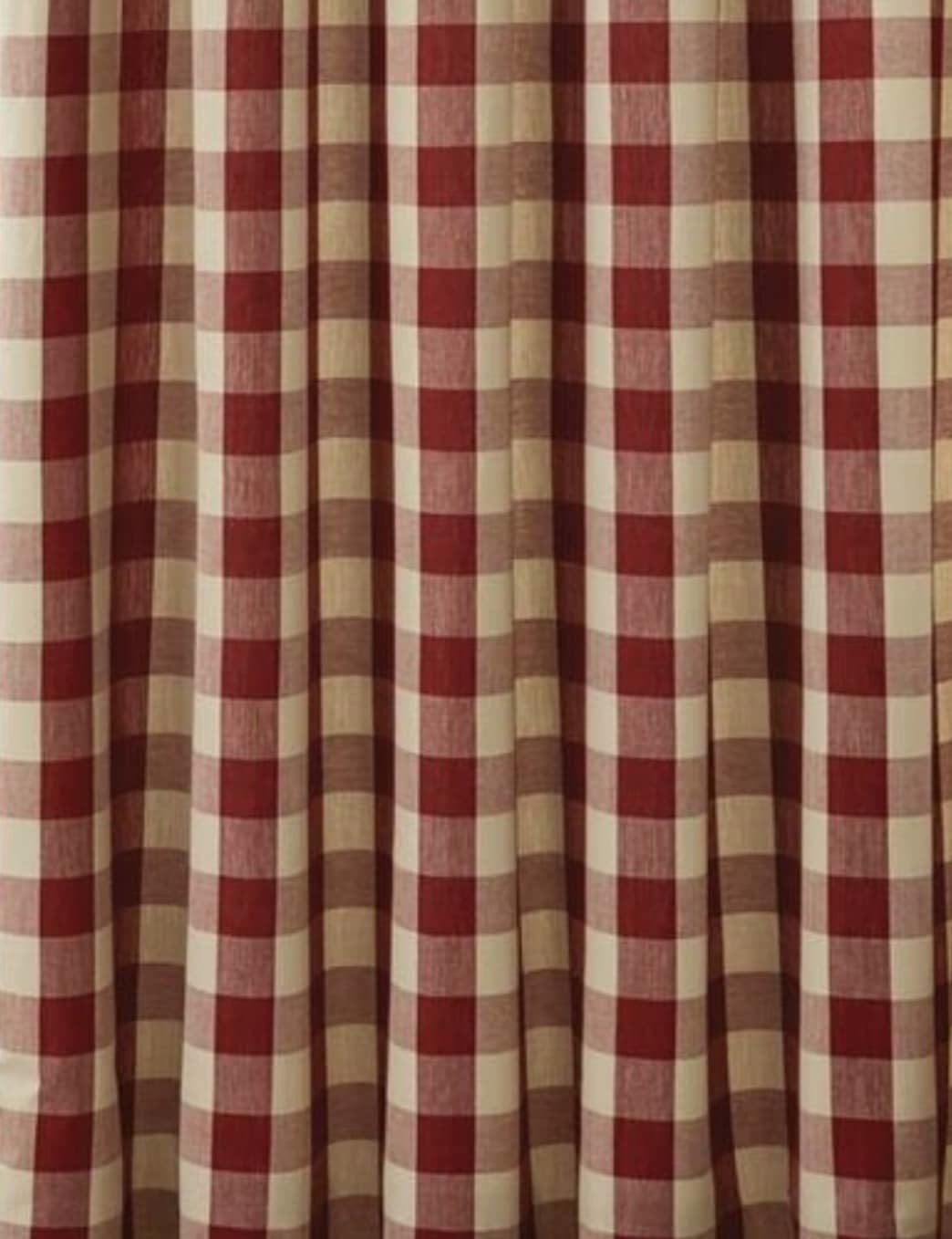 """Park Designs Wicklow Barn Red Shower Curtain - 72"""" x 72"""""""