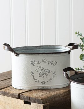 CTW Home Collection Bee Happy Oval Bucket