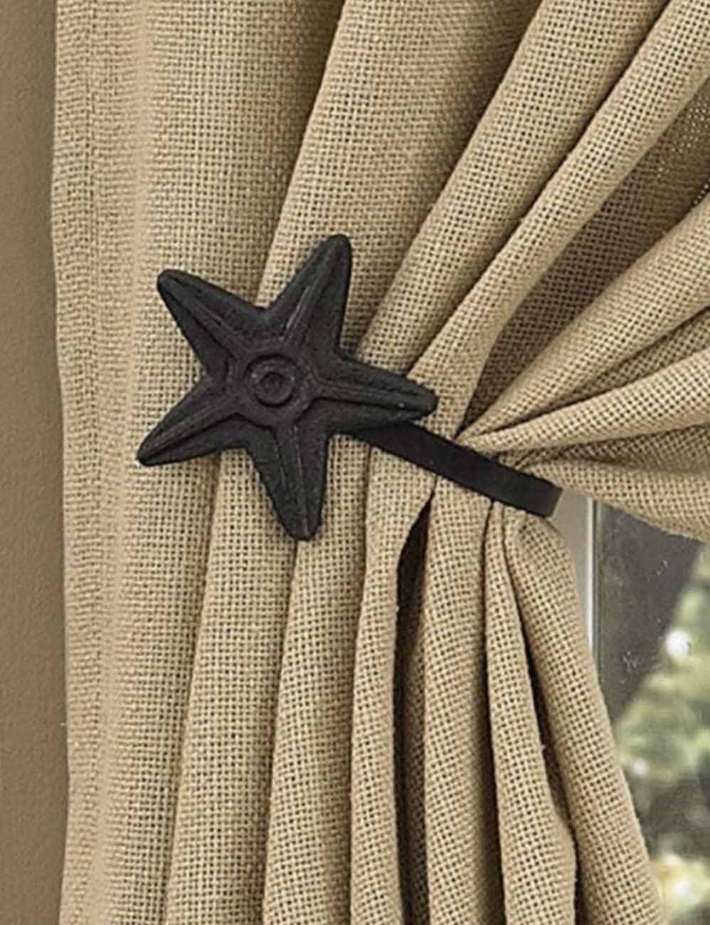 Park Designs Star Curtain Tie Back Set of 2