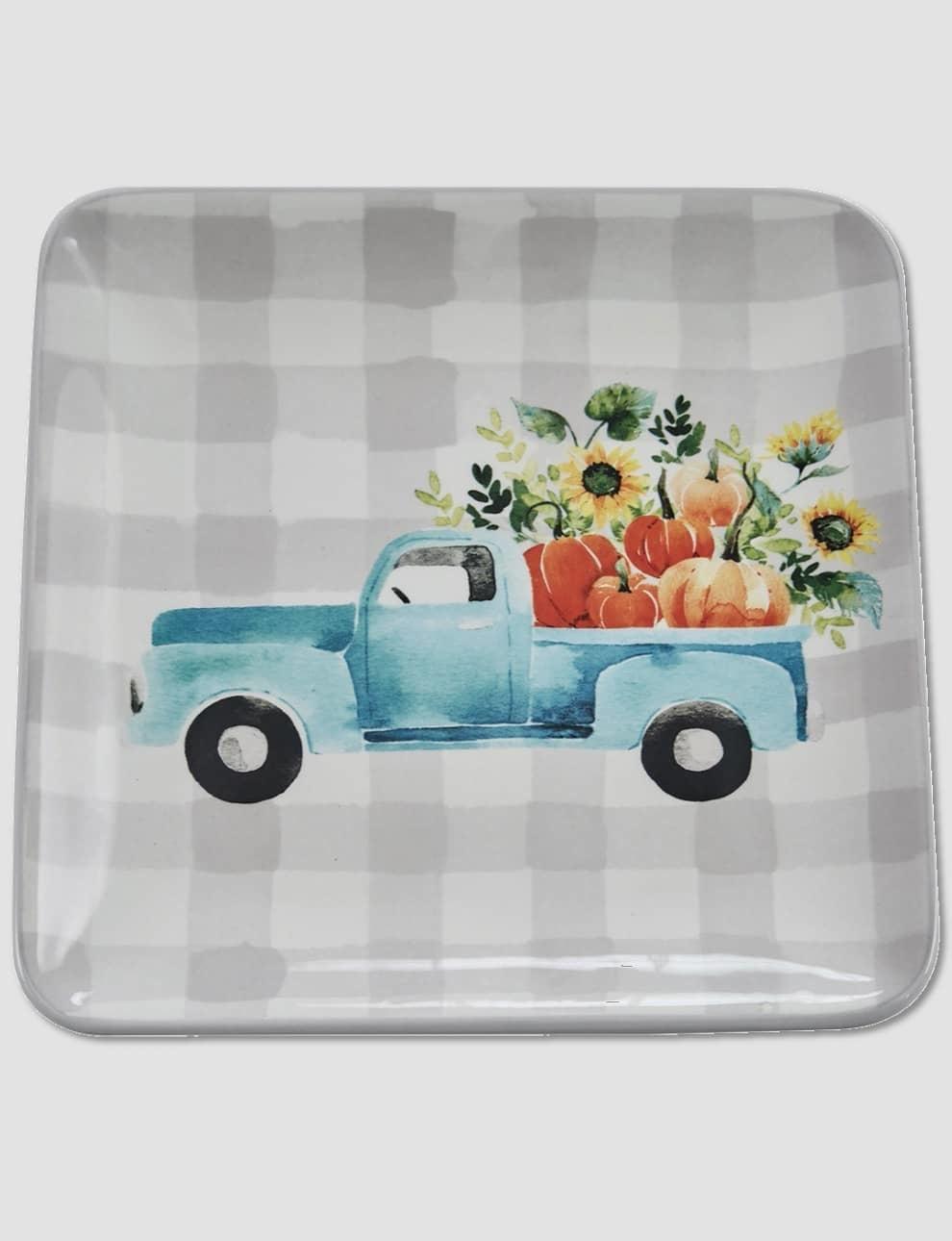 "Nana's Farmhouse Truckloads of Fun Salad Plate - 8.5"""
