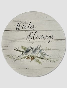 Nana's Farmhouse Winter Blessings Salad Plate