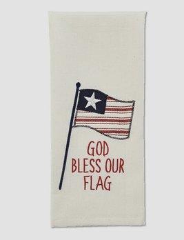 Park Designs God Bless Our Flag Applique Dishtowel