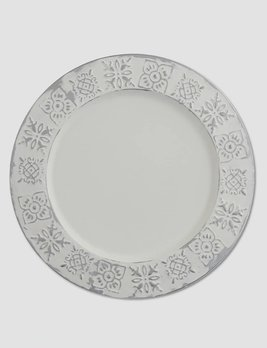 Nana's Farmhouse Distressed Tile Round Charger Plate