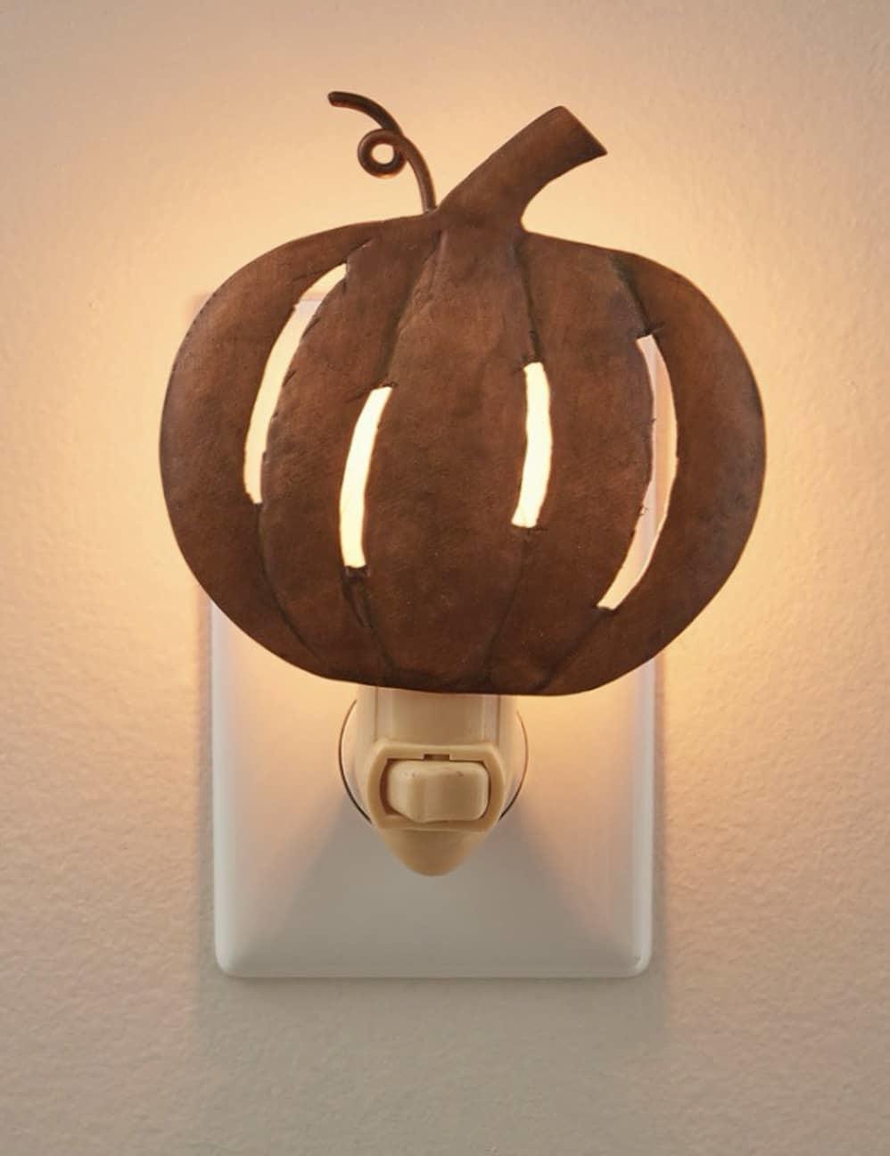 """Park Designs Pumpkin Night Light - 4""""H X 4""""W X 1.5""""D"""