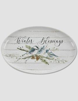 Park Designs Winter Blessings Oval Platter