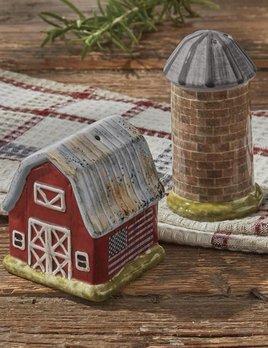 Park Designs Life On The Farm Salt & Pepper Set