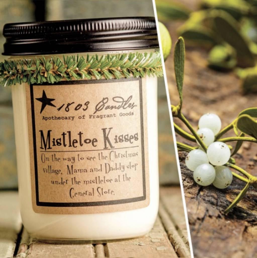 VHC Brands 1803 Candle Mistletoe Kisses 14oz