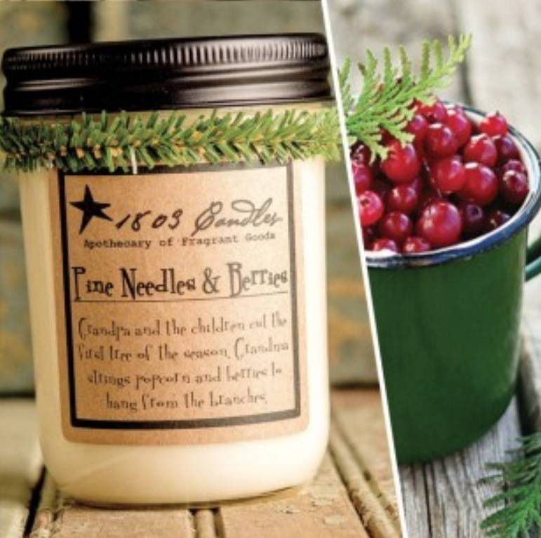 1803 Candles 1803 Candle Pine Needles & Berries 14oz