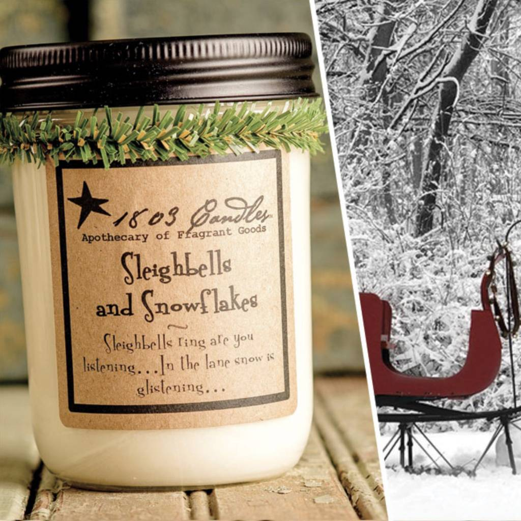 1803 Candles 1803 Candle Sleighbells & Snowflakes 14oz