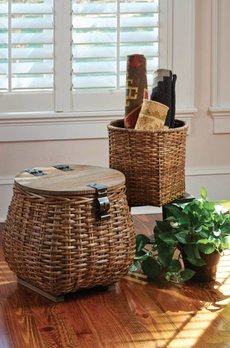 Park Designs Covered Basket Set of 2