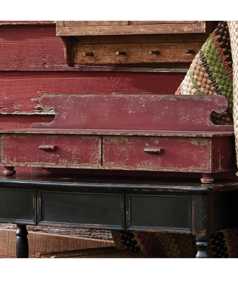 Park Designs Counter Shelf Aged Red