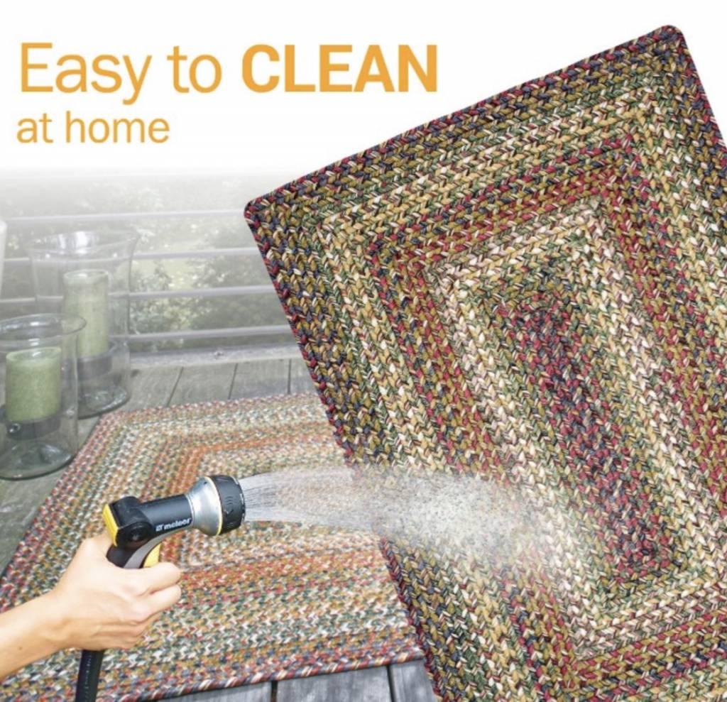 Homespice Decor Rainforest Ultra Durable Braided Rug