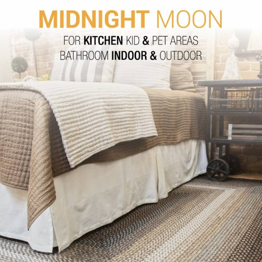 Homespice Decor Midnight Moon Ultra Durable Braided Rugs