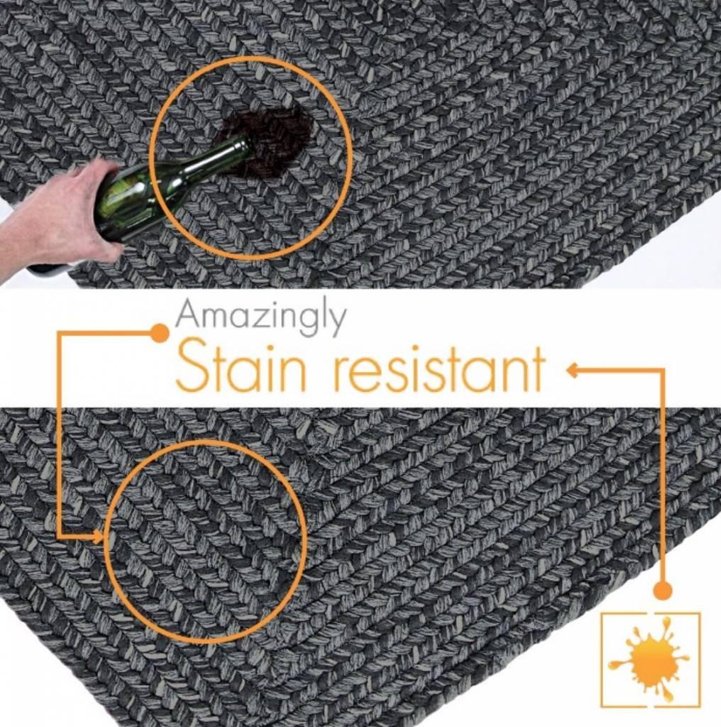 Homespice Decor Black Ultra Durable Braided Rugs