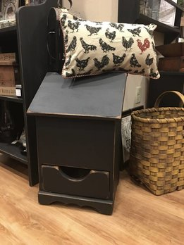 Nana's Farmhouse Trash Can Holder with Drawer