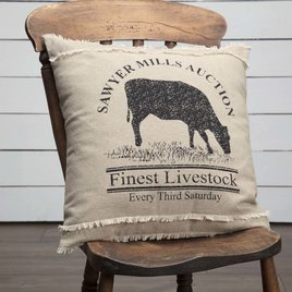 VHC Brands Sawyer Mill Cow Pillow