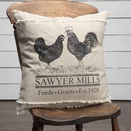 VHC Brands Sawyer Mill Poultry Pillow