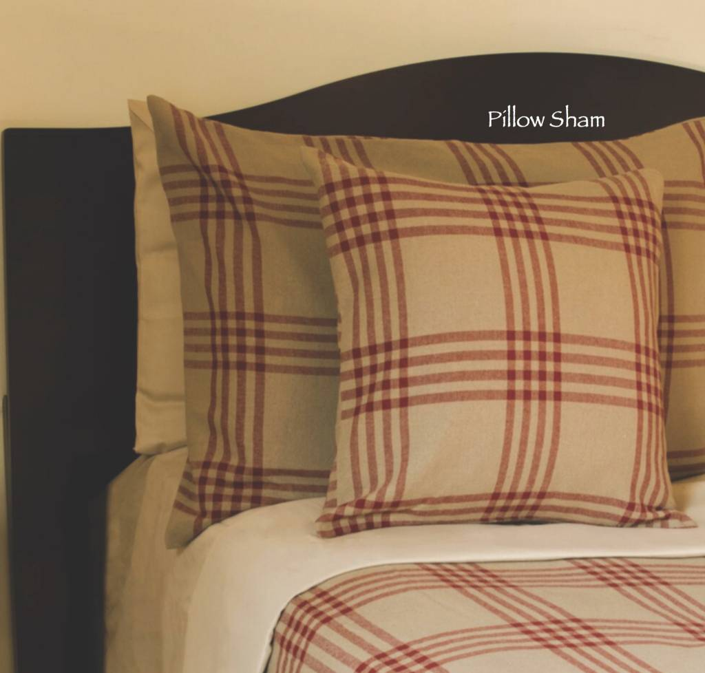 Home Collections By Raghu Chesterfield Check Barn Red Pillow Sham