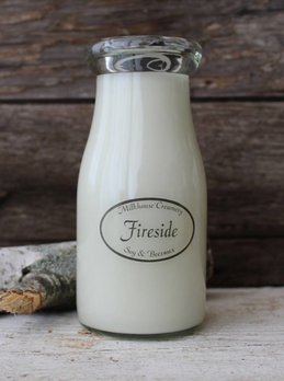 Milkhouse Candles Fireside 8oz Milk Bottle