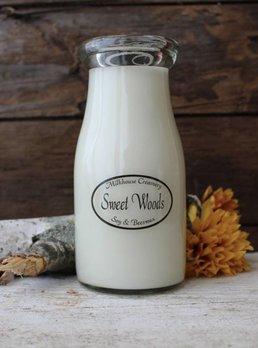 Milkhouse Candles Sweet Woods 8oz Milk Bottle