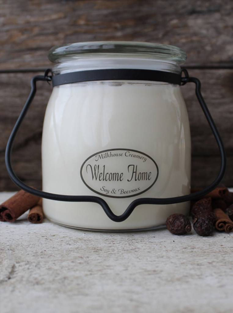 Milkhouse Candles Milkhouse Candles Welcome Home 16oz Butter Jar