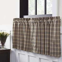VHC Brands Sawyer Mill Charcoal Plaid Tier Lined Set of 2