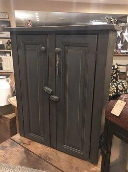 Two Door Grey Cabinet