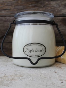 Milkhouse Candles Apple Strudel 16oz Butter Jar