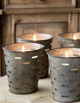 Park Hill Collection Home For The Holidays Olive Bucket Candle