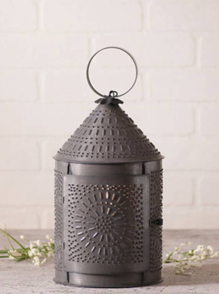 """Irvin's Tinware 15"""" Fireside Lantern in Kettle Black"""