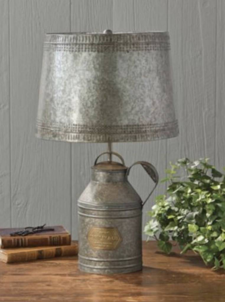 Antique Milk Can Lamp With Tin Shade Country Farmhouse Style St Louis Lighting Nana S