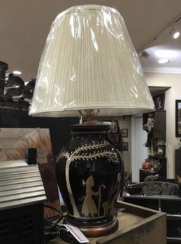 David T. Smith American Redware Lamp Black