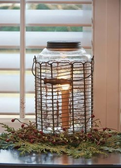 Park Designs Wire Jar Lamp