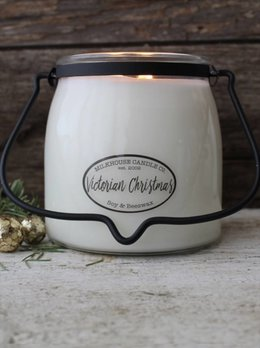 Milkhouse Candles Victorian Christmas 16oz Butter Jar