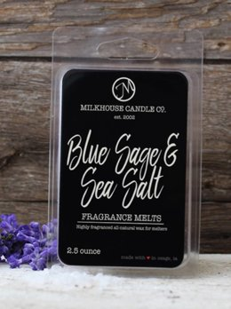 Milkhouse Candles Blue Sage & Sea Salt 2.5oz Melt Milkhouse