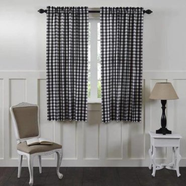 Annie Buffalo Black Check Curtains