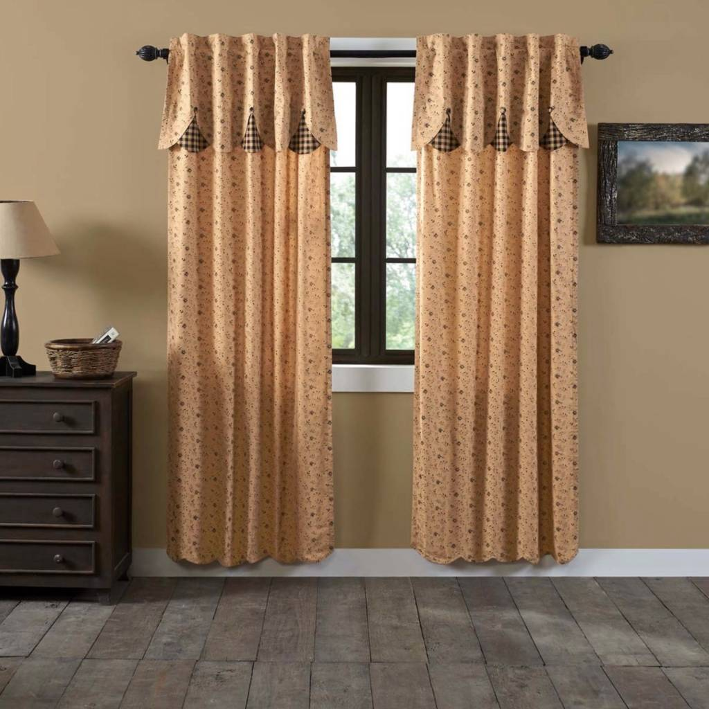 "VHC Brands Maisie Lined Panel Set of 2 84"" x 40"""