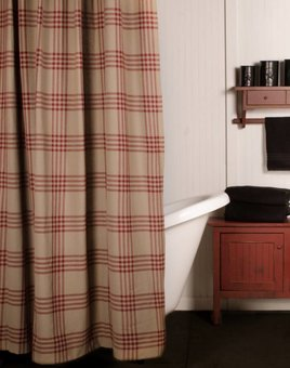 Home Collections By Raghu Chesterfield Check Red Shower Curtain