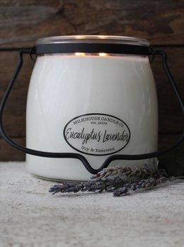 Milkhouse Candles Eucalyptus Lavender 16oz Butter Jar