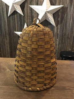 Nana's Farmhouse Woven Bee Skep Mustard - Large