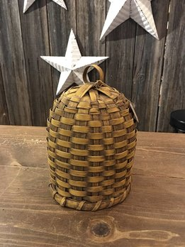 Nana's Farmhouse Woven Bee Skep Mustard Basket - Small