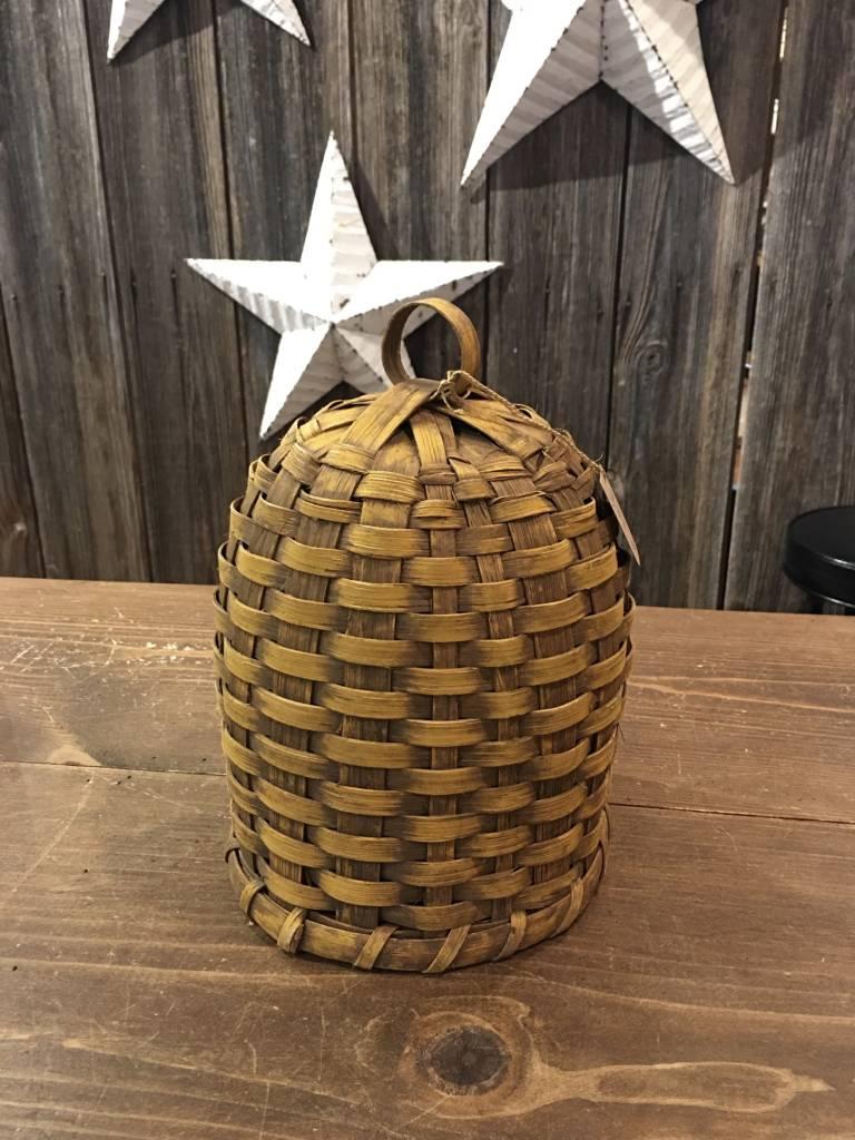 Nana's Farmhouse Woven Bee Skep Mustard Basket - Small