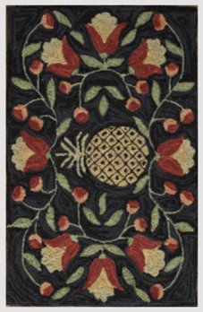 Park Designs Pineapple Hooked Rug