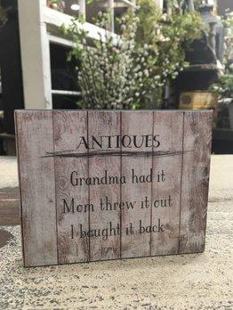 Nanas Farmhouse Antiques Block Sign