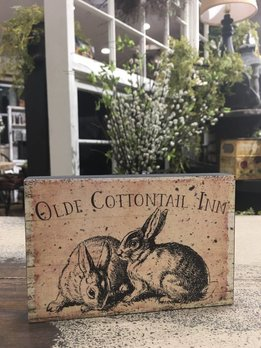 Olde Cottontail Inn Block Sign