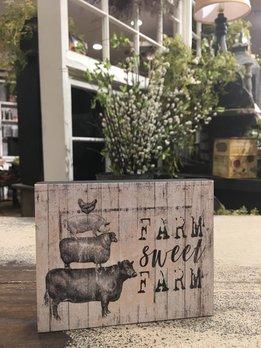 Nana's Farmhouse Farm Sweet Farm Block Sign