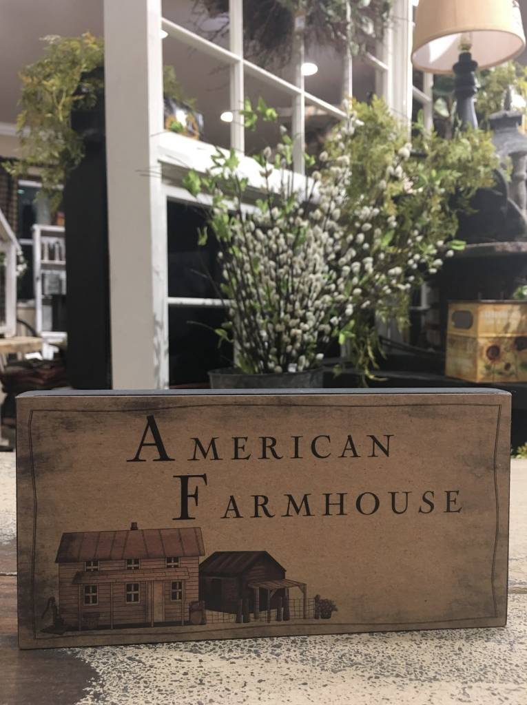 American Farmhouse Block Sign