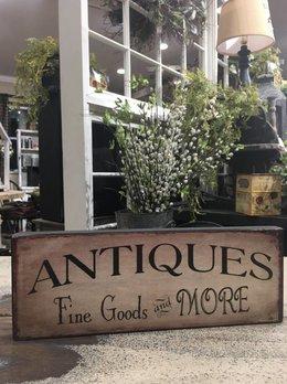 Nana's Farmhouse Antiques Fine Goods & More Block Sign